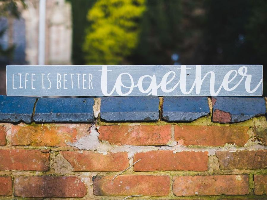 Life Is Better Together | Long Wood Sign - The Imperfect Wood Company - Long Wood Sign