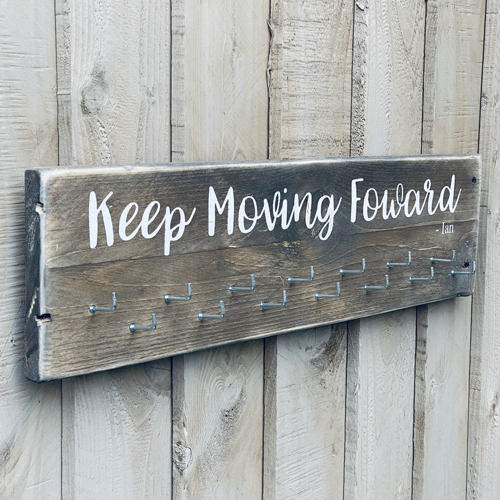 Medal Holder | Reclaimed Wood Sign | Personalised - The Imperfect Wood Company - Long Wood Sign