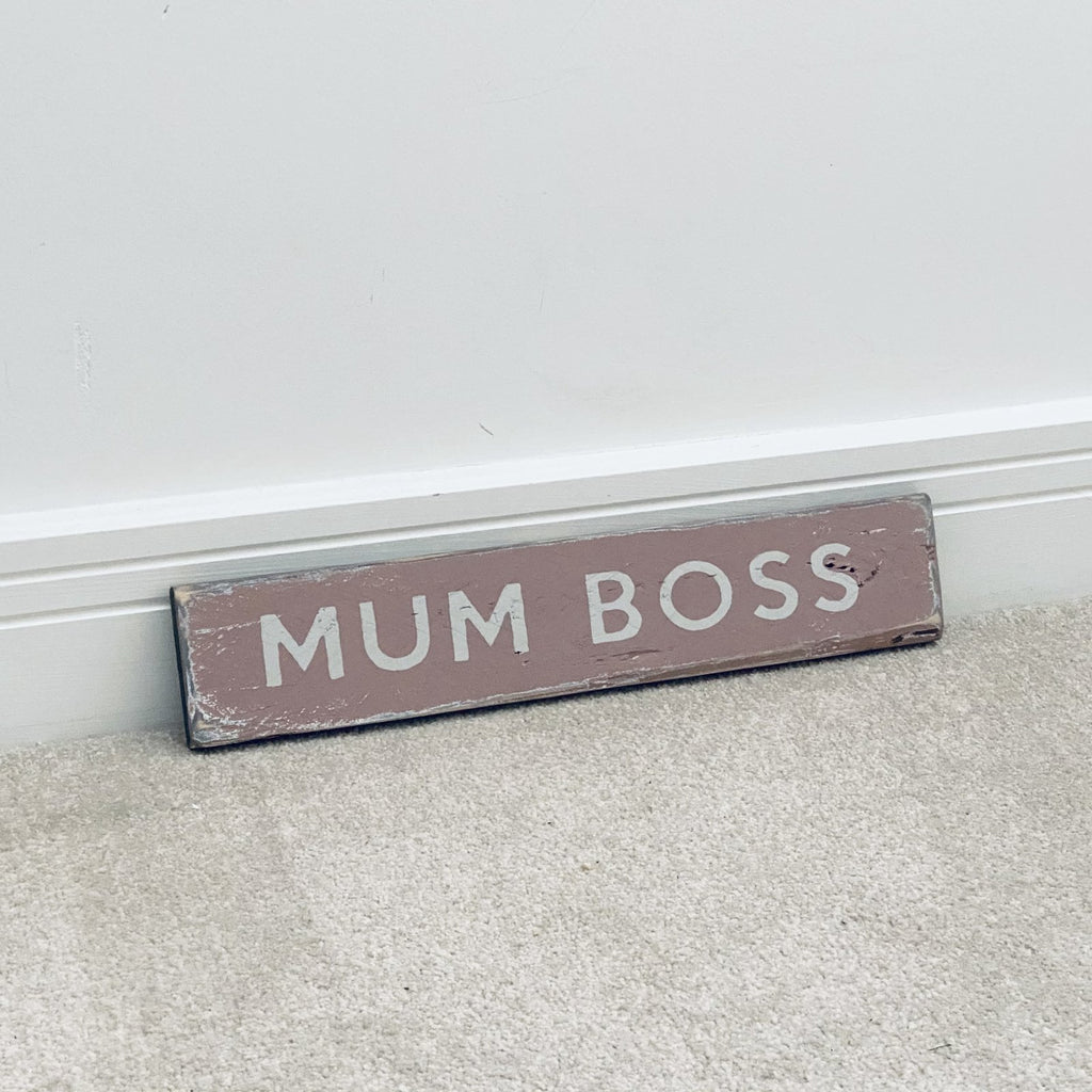 Mum Boss | Reclaimed Wood Sign | Ready Now - The Imperfect Wood Company - Reclaimed Wood Sign
