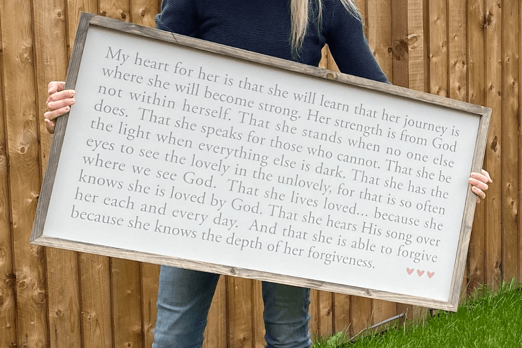 My heart for her | Framed wood sign - The Imperfect Wood Company - Framed Wood Sign