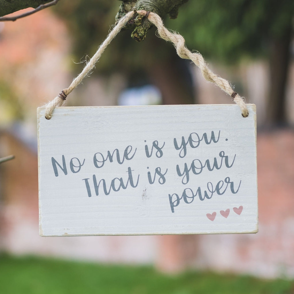 No one is you | Hanging Wood Sign | #MIND - The Imperfect Wood Company - Hanging Wood Sign