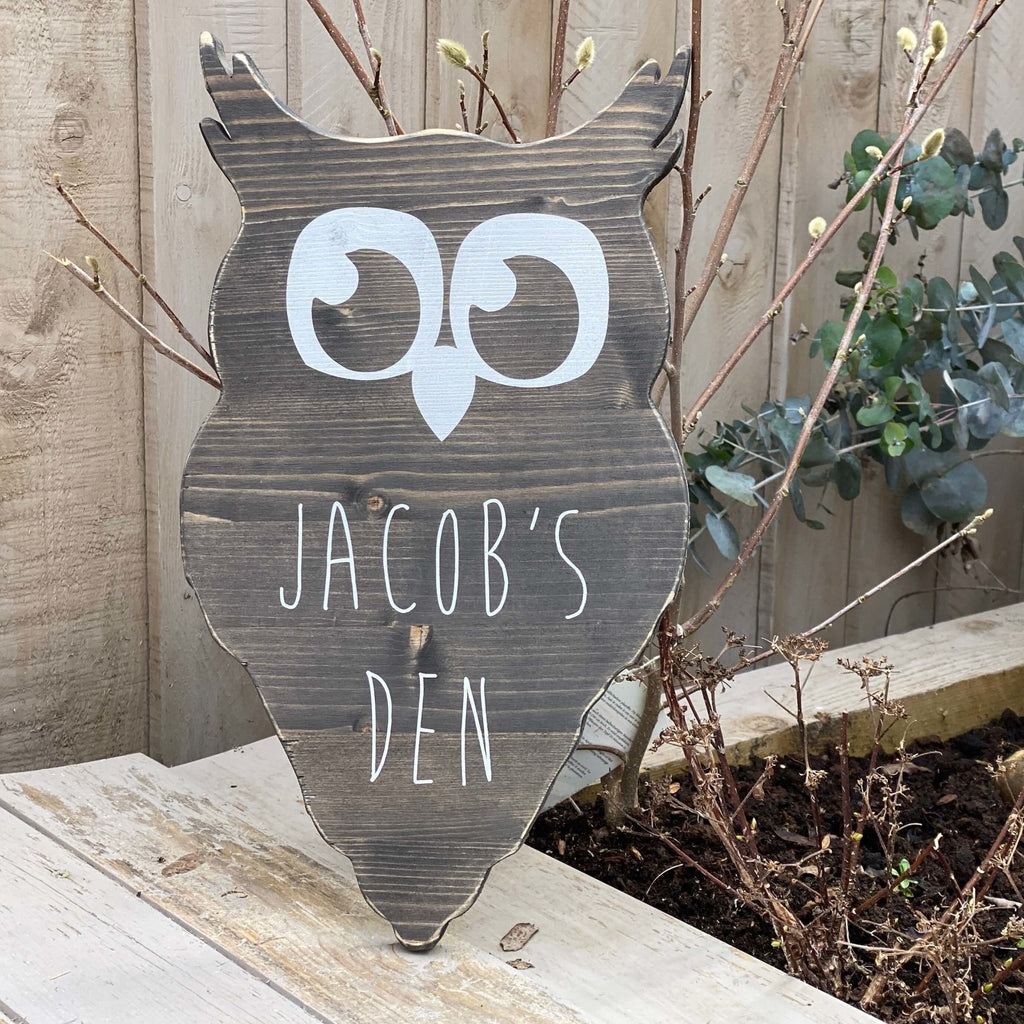 Owl | Wooden Shape | Personalised - The Imperfect Wood Company - Custom