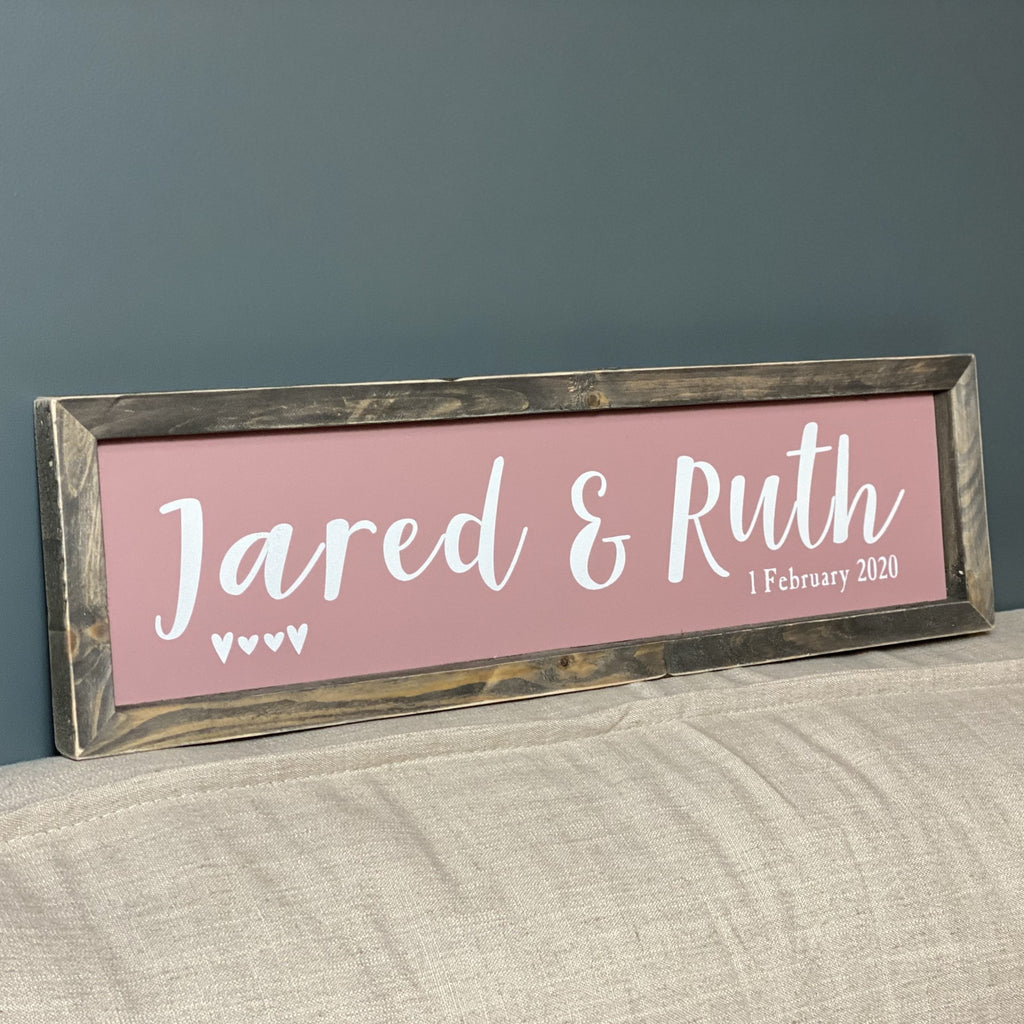 Personalised Couples Sign | Framed Wood Sign - The Imperfect Wood Company - Framed Wood Sign