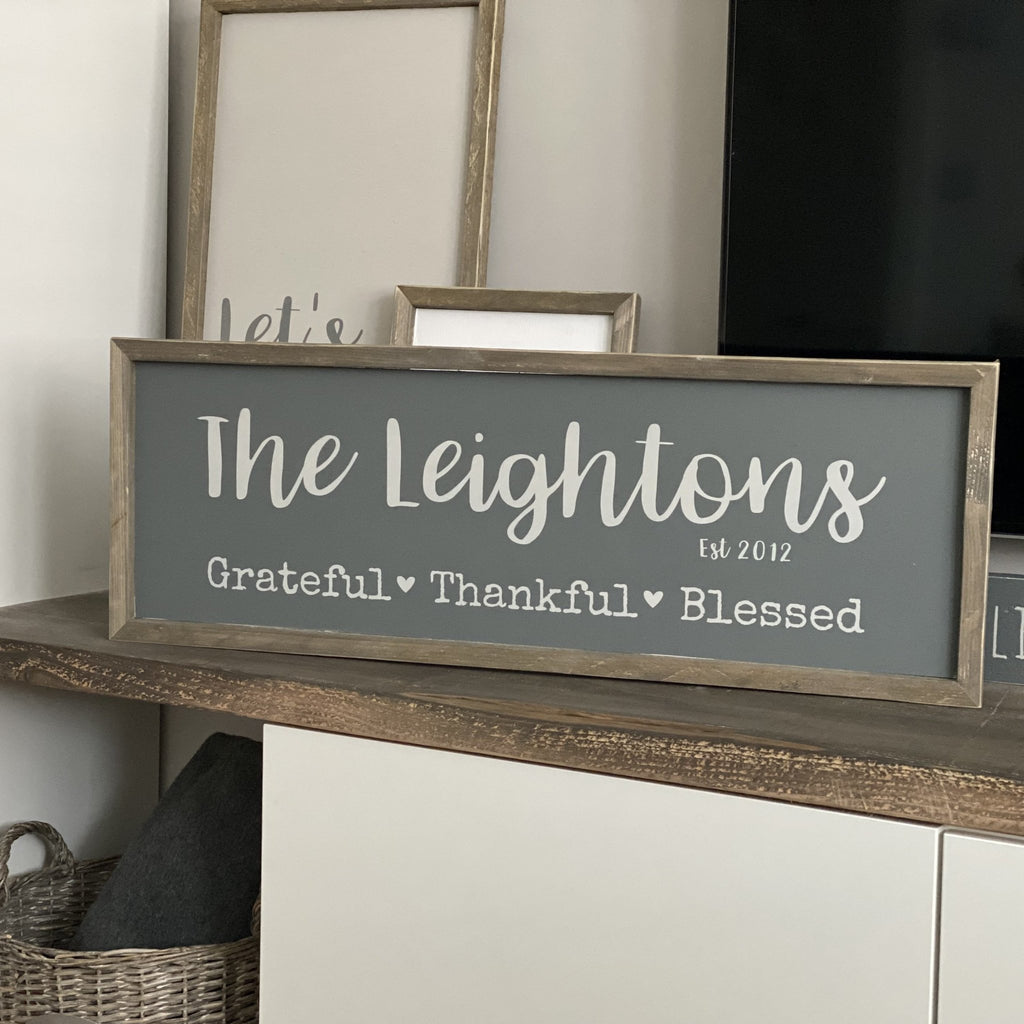 Personalised family sign | Framed Wood Sign - The Imperfect Wood Company - Framed Wood Sign