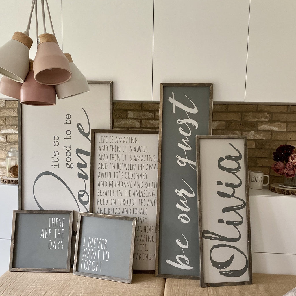 Personalised name | Framed wood sign - The Imperfect Wood Company - Framed Wood Sign