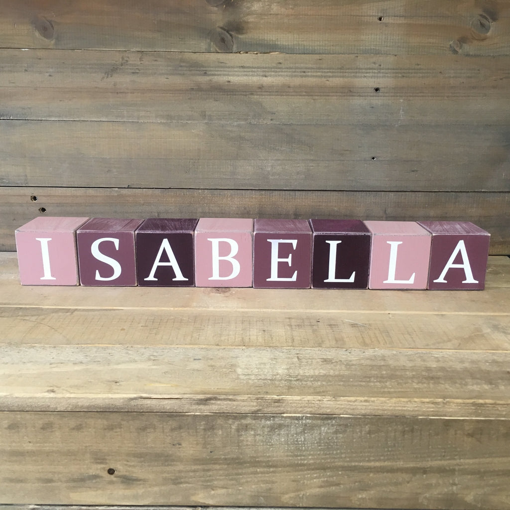Personalised Wooden Blocks | Hand Painted - The Imperfect Wood Company - Wooden Blocks