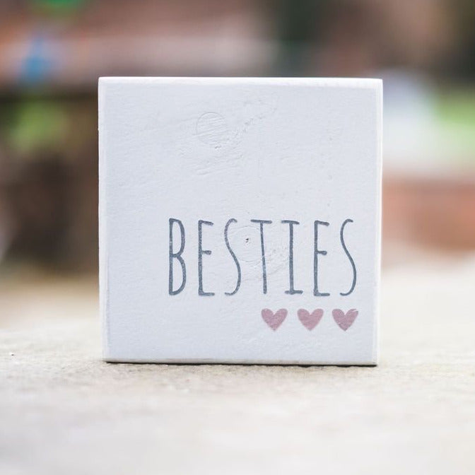 Reclaimed Wood Mini Sign | Besties - The Imperfect Wood Company - Mini wood sign