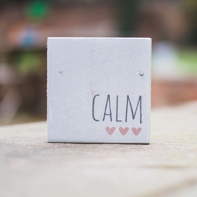 Reclaimed Wood Mini Sign | Calm - The Imperfect Wood Company - Mini wood sign