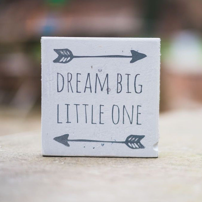 Reclaimed Wood Mini Sign | Dream Big - The Imperfect Wood Company - Mini wood sign
