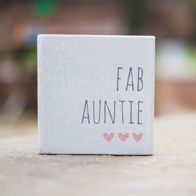 Reclaimed Wood Mini Sign | Fab Auntie - The Imperfect Wood Company - Mini wood sign