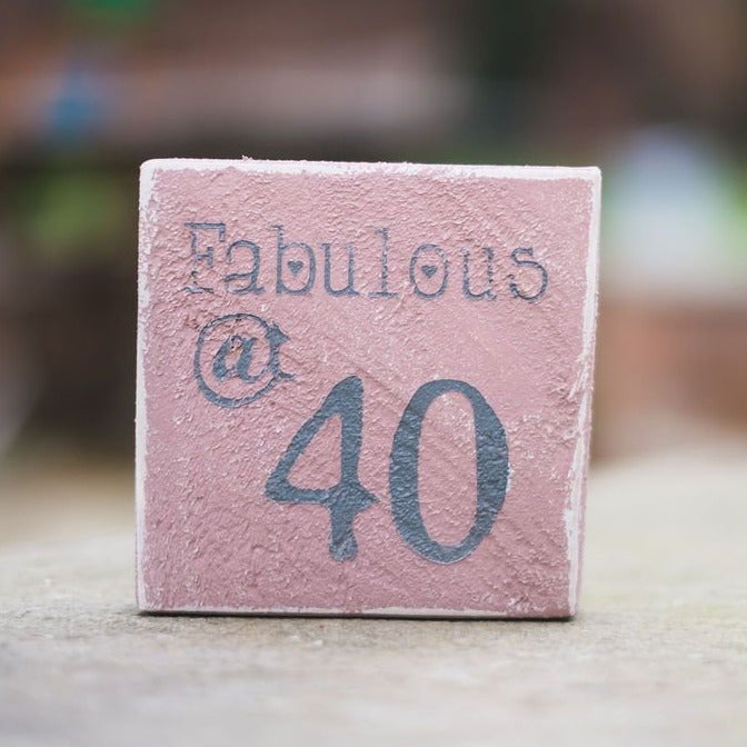 Reclaimed Wood Mini Sign | Fabulous at 40 - The Imperfect Wood Company - Mini wood sign