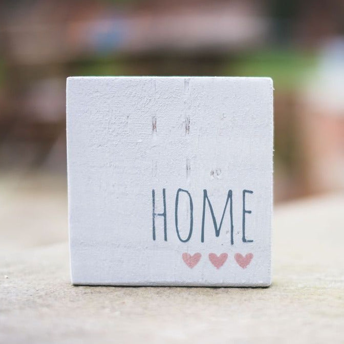 Reclaimed Wood Mini Sign | Home - The Imperfect Wood Company - Mini wood sign