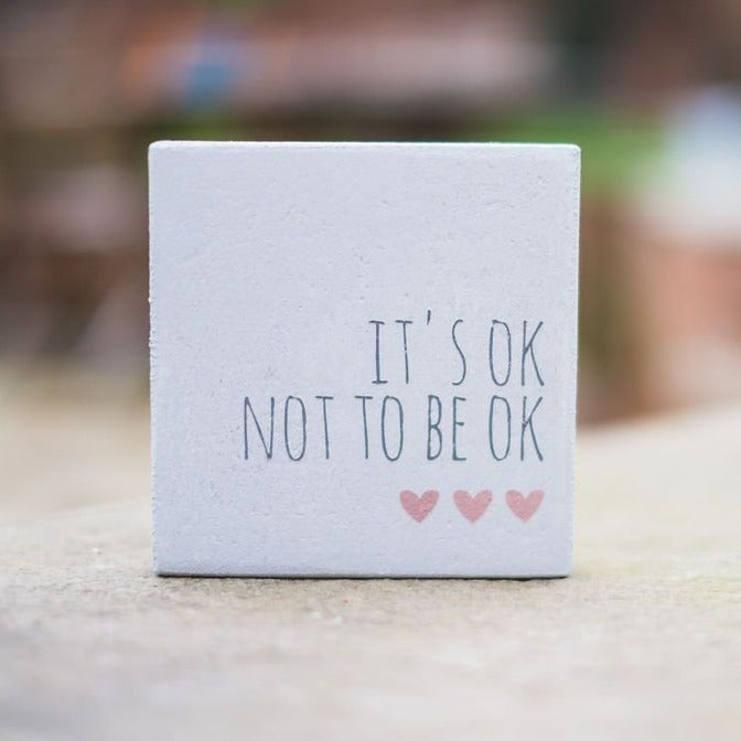 Reclaimed Wood Mini Sign | It's ok not to be ok | #MIND - The Imperfect Wood Company - Mini wood sign