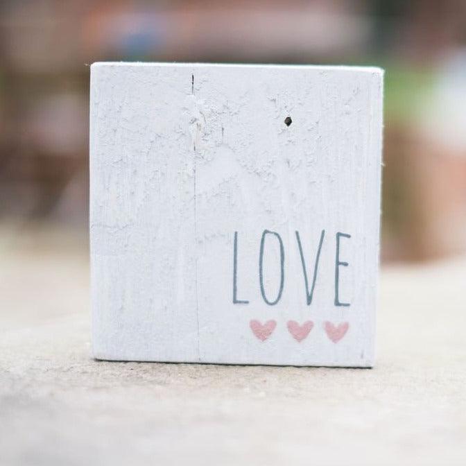 Reclaimed Wood Mini Sign | Love - The Imperfect Wood Company - Mini wood sign
