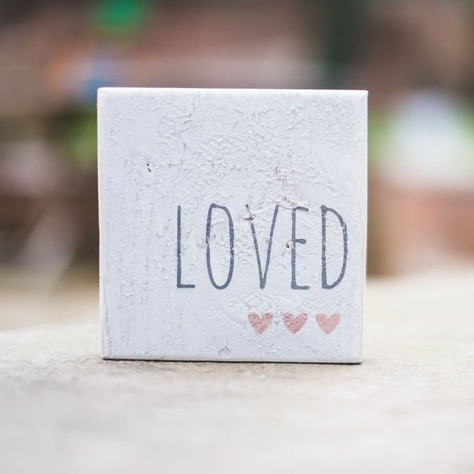 Reclaimed Wood Mini Sign | Loved | #BrainTumourResearch - The Imperfect Wood Company - Mini wood sign