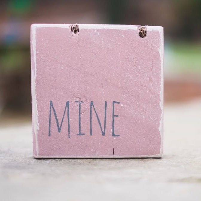 Reclaimed Wood Mini Sign | Mine - The Imperfect Wood Company - Mini wood sign