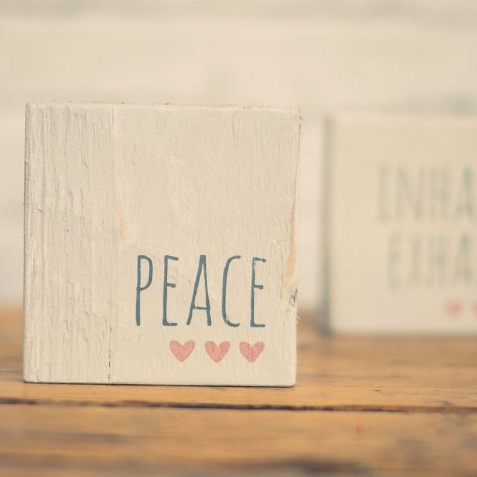 Reclaimed Wood Mini Sign | Peace | #BrainTumourResearch - The Imperfect Wood Company - Mini wood sign