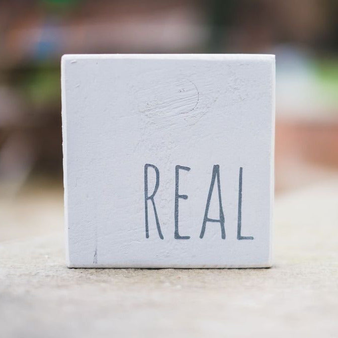 Reclaimed Wood Mini Sign | Real - The Imperfect Wood Company - Mini wood sign