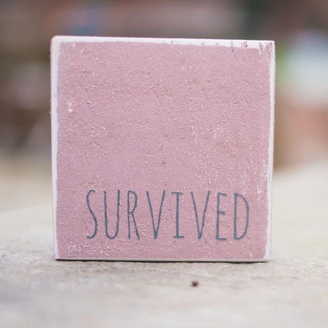 Reclaimed Wood Mini Sign | Survived - The Imperfect Wood Company - Mini wood sign
