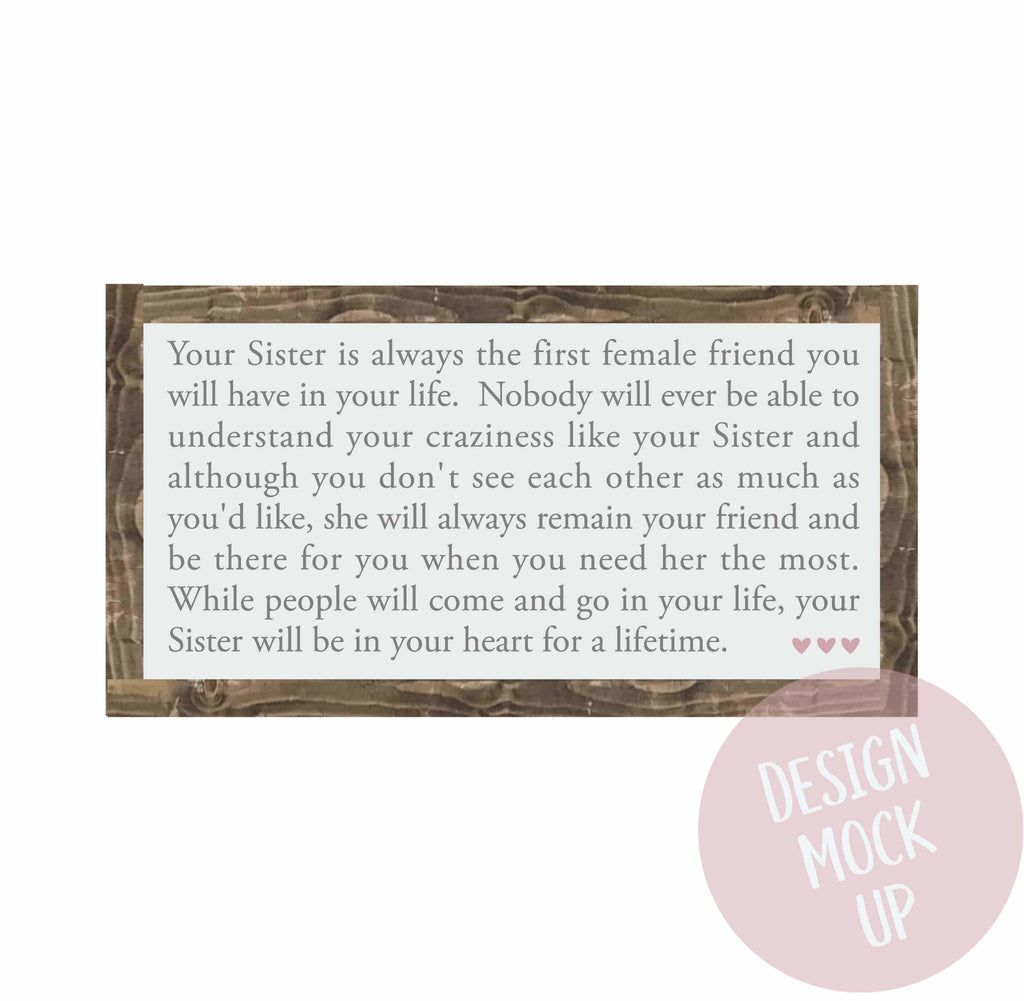 Sister | Framed Wood Sign - The Imperfect Wood Company - Framed Wood Sign