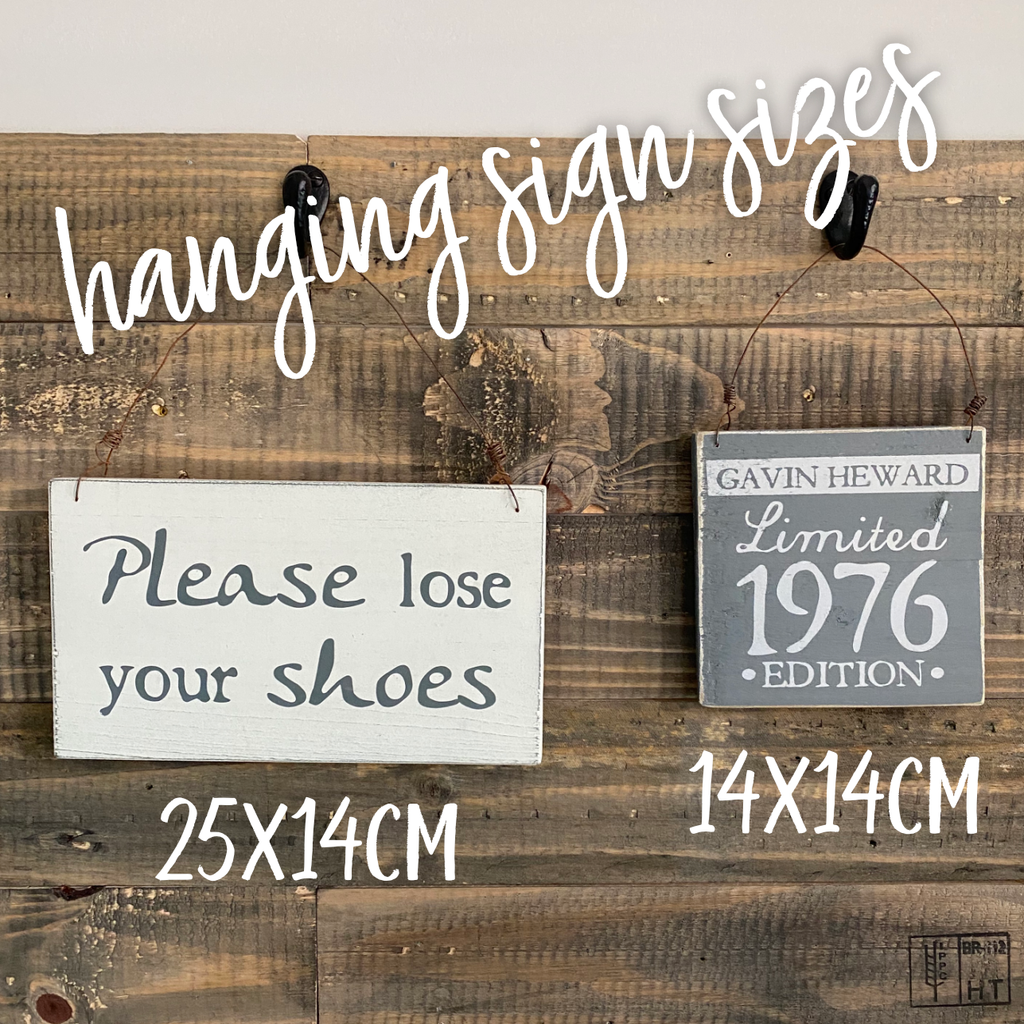 Your Own Words | Reclaimed Wood Sign | Bespoke