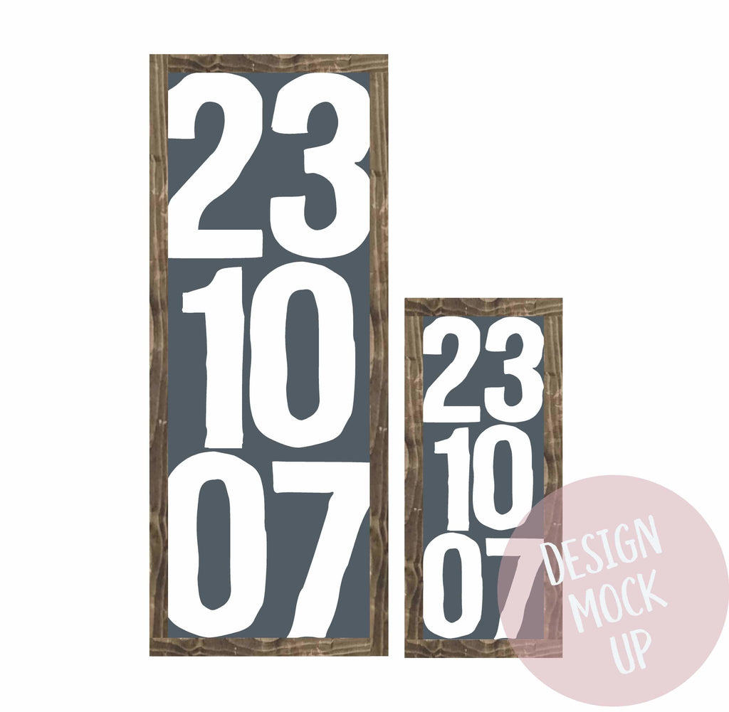 Special Dates | Framed Wood Sign - The Imperfect Wood Company - Framed Wood Sign