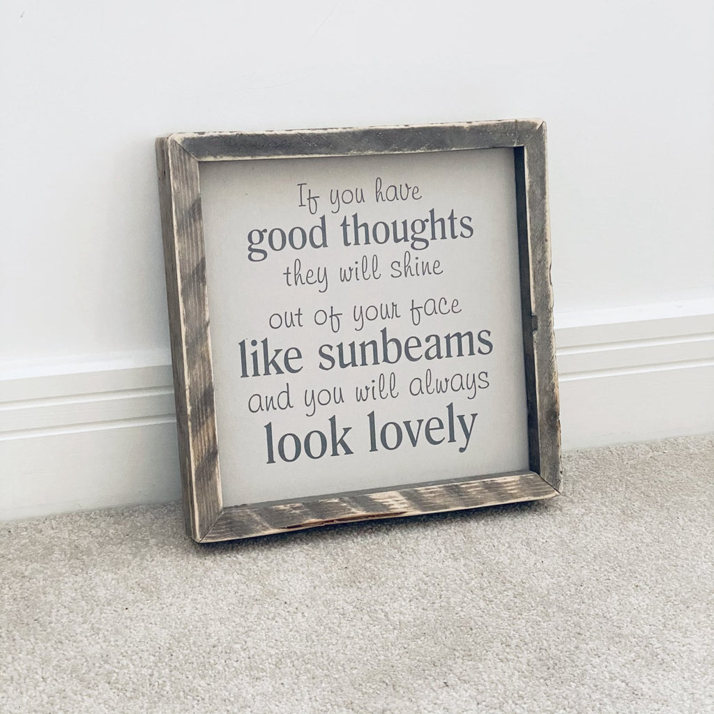 Sunbeams | Framed Wood Sign | Ready Now - The Imperfect Wood Company - Framed Wood Sign