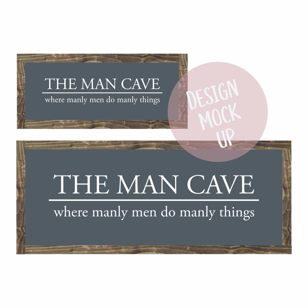 The Man Cave | Framed Wood Sign - The Imperfect Wood Company - Framed Wood Sign