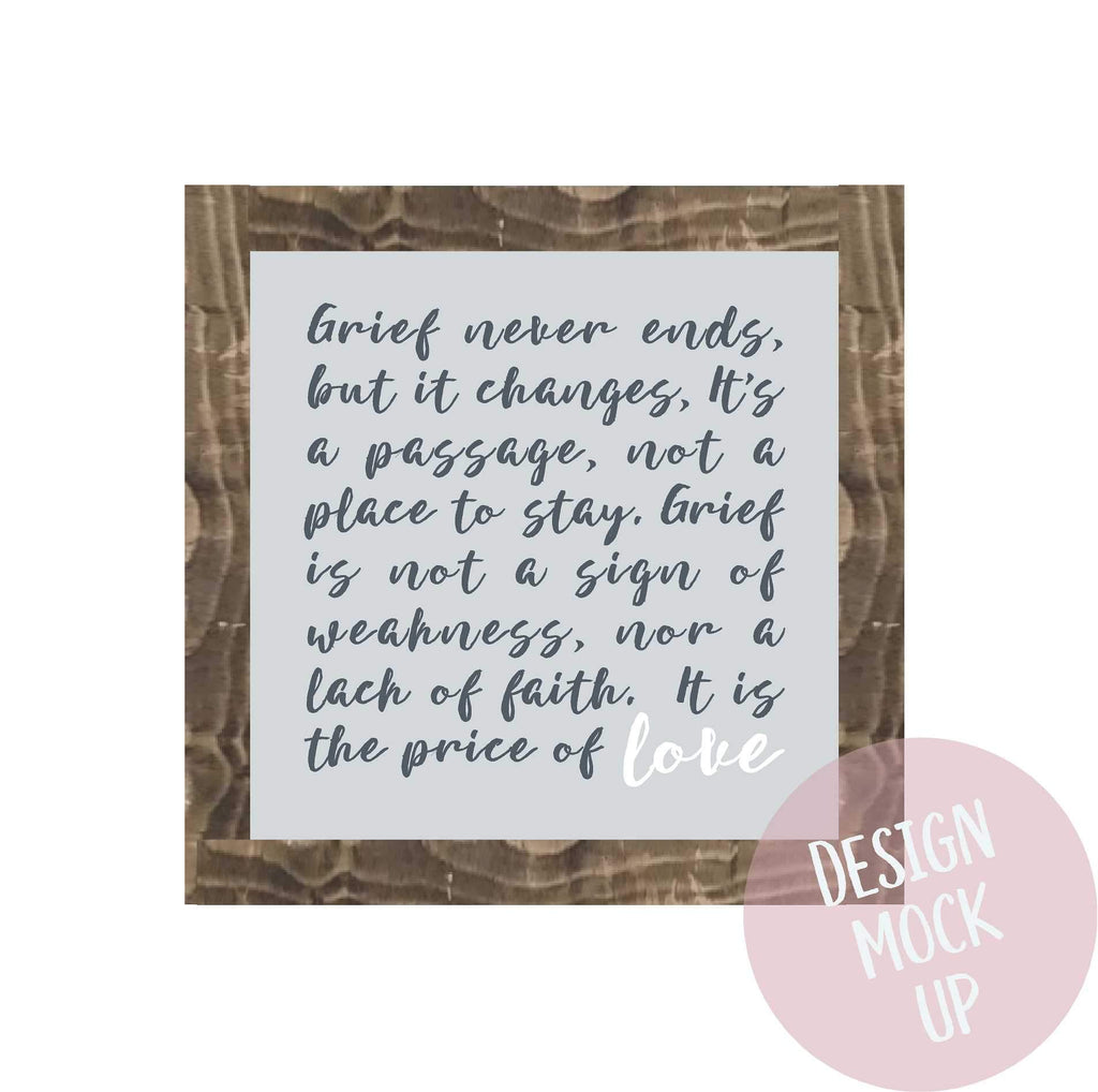 The price of love | Framed Wood Sign | #Brain Tumour Research - The Imperfect Wood Company - Framed Wood Sign