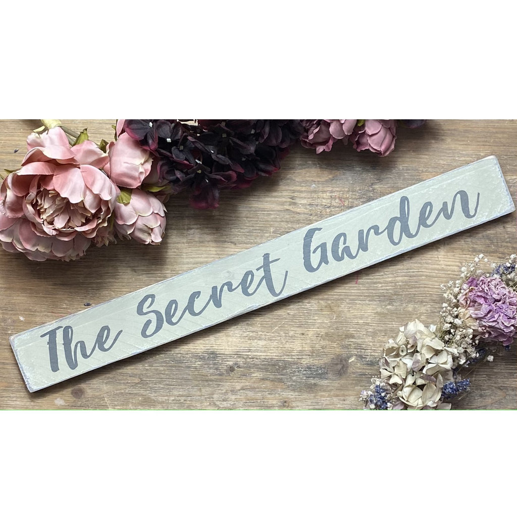 The Secret Garden | Reclaimed Wood Sign | Ready Now - The Imperfect Wood Company - Reclaimed Wood Sign