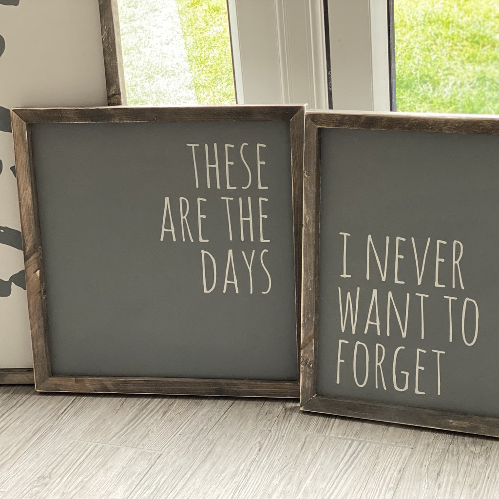 These are the days (2 Set) | Framed Wood Signs - The Imperfect Wood Company - Framed Wood Sign