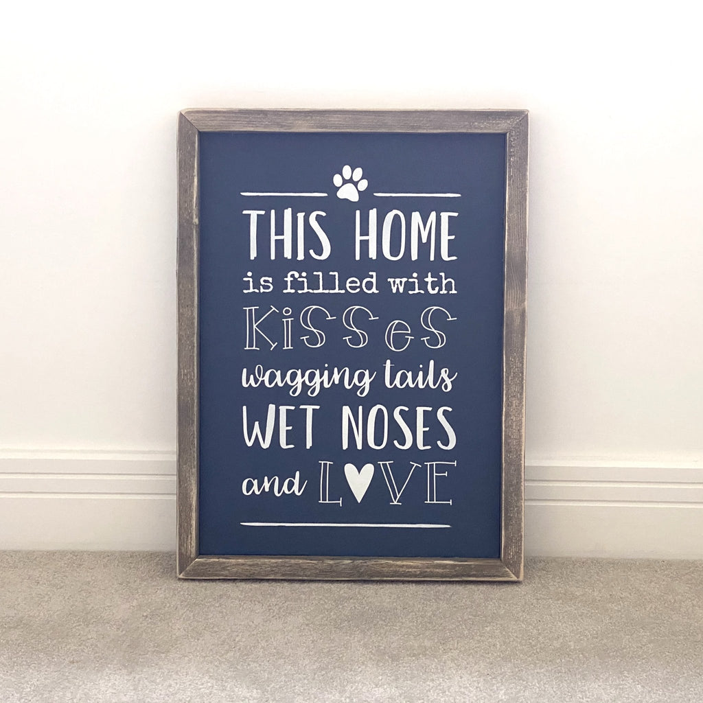This home is filled with... | Framed Wood Sign - The Imperfect Wood Company - Framed Wood Sign