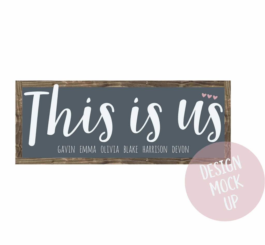 This is us | Framed Wood Sign - The Imperfect Wood Company - Framed Wood Sign
