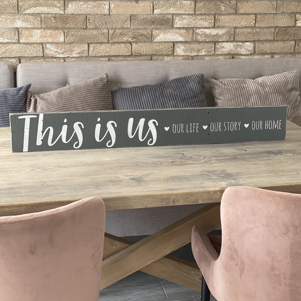 This Is Us | Long Wood Sign - The Imperfect Wood Company - Long Wood Sign