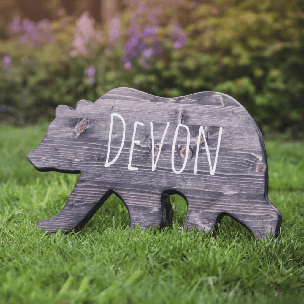 Wood Shape | Bear | Personalised - The Imperfect Wood Company - Wood Shapes