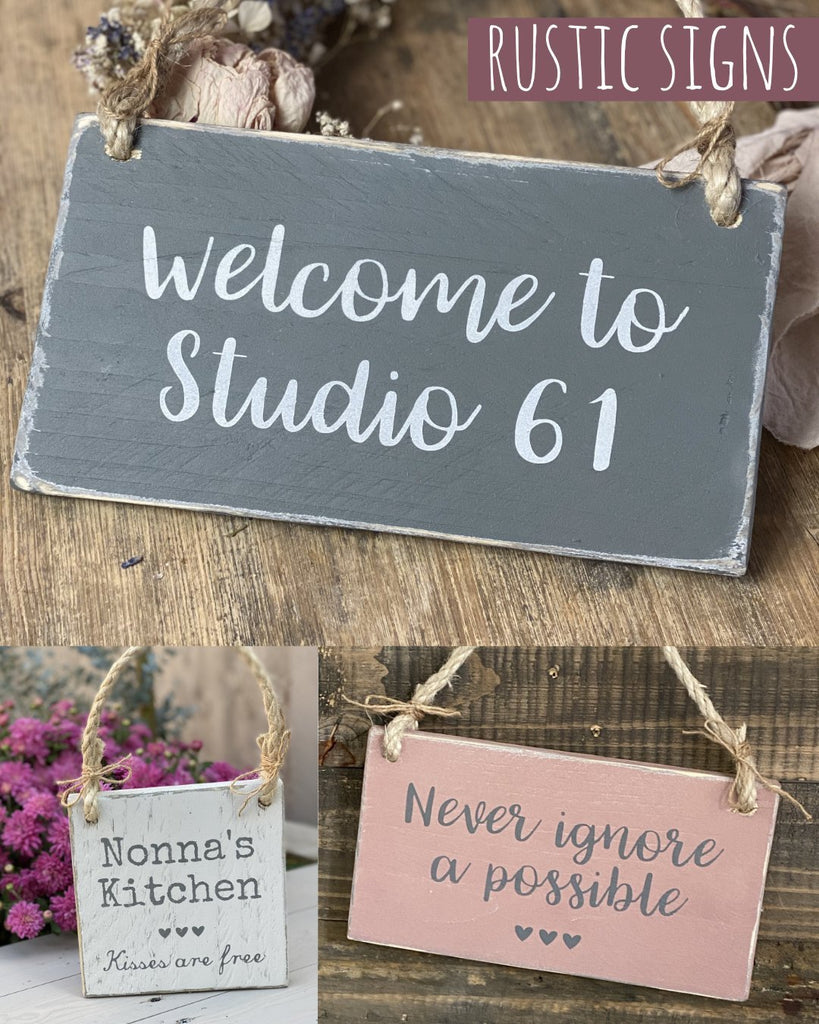 Your Own Words | Reclaimed Wood Sign | Bespoke - The Imperfect Wood Company - Hanging Wood Sign