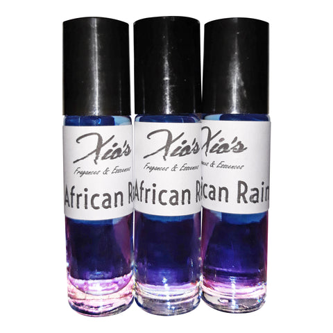 African Rain Premium Grade Fragrance Body Oil set of 3 Bottles 1/3 oz Each