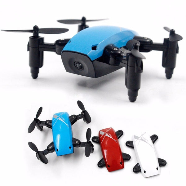 Mini RC Drone With Camera HD 0.3MP Foldable RC Quadcopter Altitude Hold Helicopter WiFi FPV Headless Aircraft S9HW