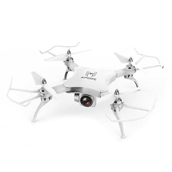 UAV RC Quadcopter Foldable Folding LED Light Aircraft Drone White HD Camera Stunt Rolling Camera