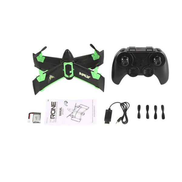 X99A RC Drone 2.4G 4CH Wing Rocket Quadcopter with Altitude Hold One Key Take off/Land Mini Airplane Gift Toy RTF