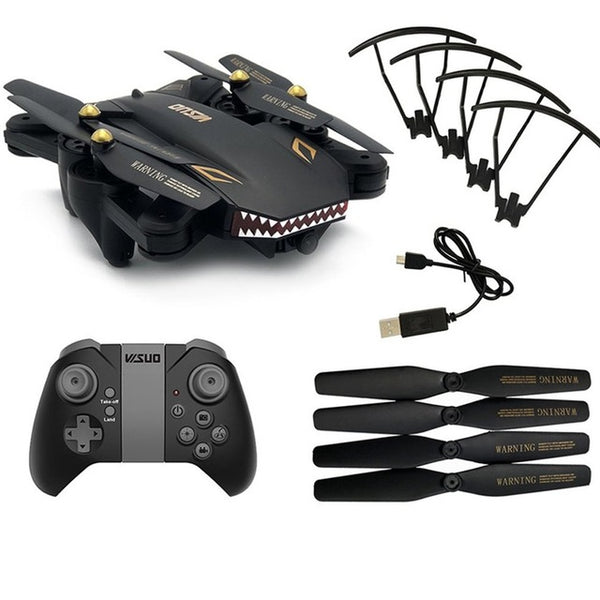 XS809S 2.4G RC Drone with 0.3MP Camera 4CH Foldable Mini Quadrocopter Headless Mode Altitude Hold Wifi FPV Drone