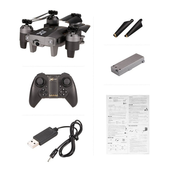 x33c-1 Foldable Smart RC 2.4G RC Quadcopter Drone Aircraft with Altitude Hold Headless Mode 3D Flips One Key Take Off