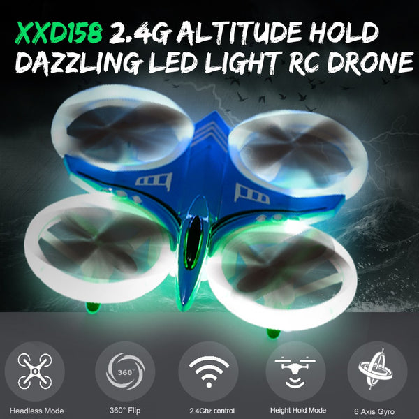 XIN XIANG DA XXD158 2.4G 6-Axis Gyro Altitude Hold Dazzling LED Light RC Quadcopter Drone