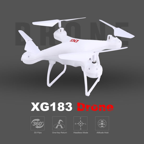 XG183 Smart RC Drone 2.4G RC Quadcopter Drone with Altitude Hold One Key Return Headless Mode LED Flash Word Programmable Props