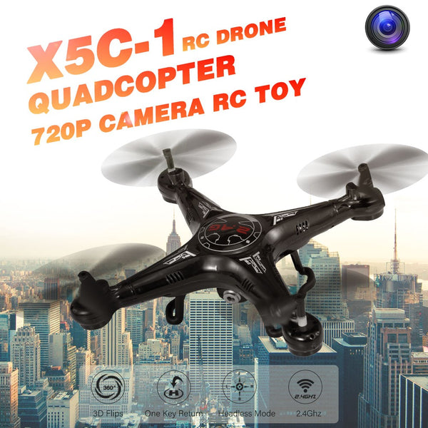 X5C-1 2.4GHz 720P Camera One Key Return RC Drone Quadcopter RC Toy RTF for Kids Beginners
