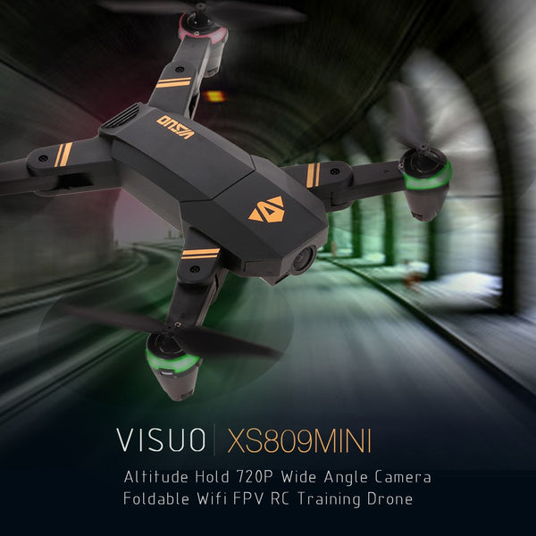 VISUO XS809mini Altitude Hold Foldable 720P Wide Angle Camera Wifi FPV RC Training Drone