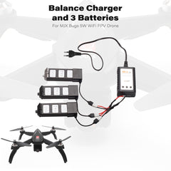 MJX Bugs 5W Battery Balance Charger with 3 Batteries for MJX Bugs 5W WiFi FPV B5W Drone