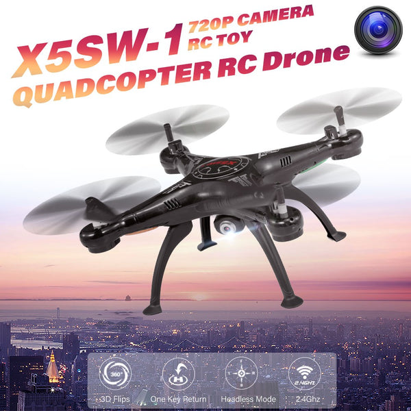X5SW-1 2.4GHz 720P Camera One Key Return RC Drone Quadcopter RC Toy RTF for Kids Beginners