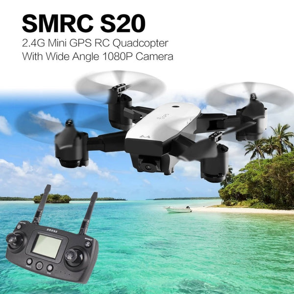 S20 Drone With Wide Angle 1080P Camera 6 Axles Gyro Mini GPS 2.4G Altitude Hold RC Quadcopter Portable RC Model