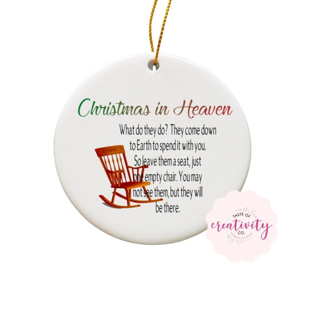 Sublimated Ornament - Christmas in Heaven - Taste Of Creativity CO.